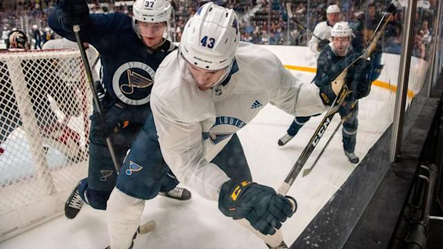 Blues notebook: Kostin is here, but will he play?