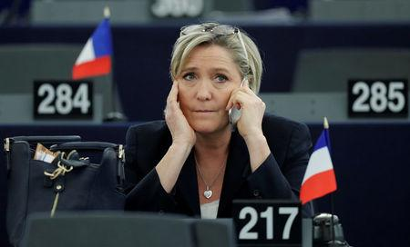 FILE PHOTO: Marine Le Pen, French National Front (FN) political party leader and Member of the European Parliament, attends the election of the new President of the European Parliament in Strasbourg