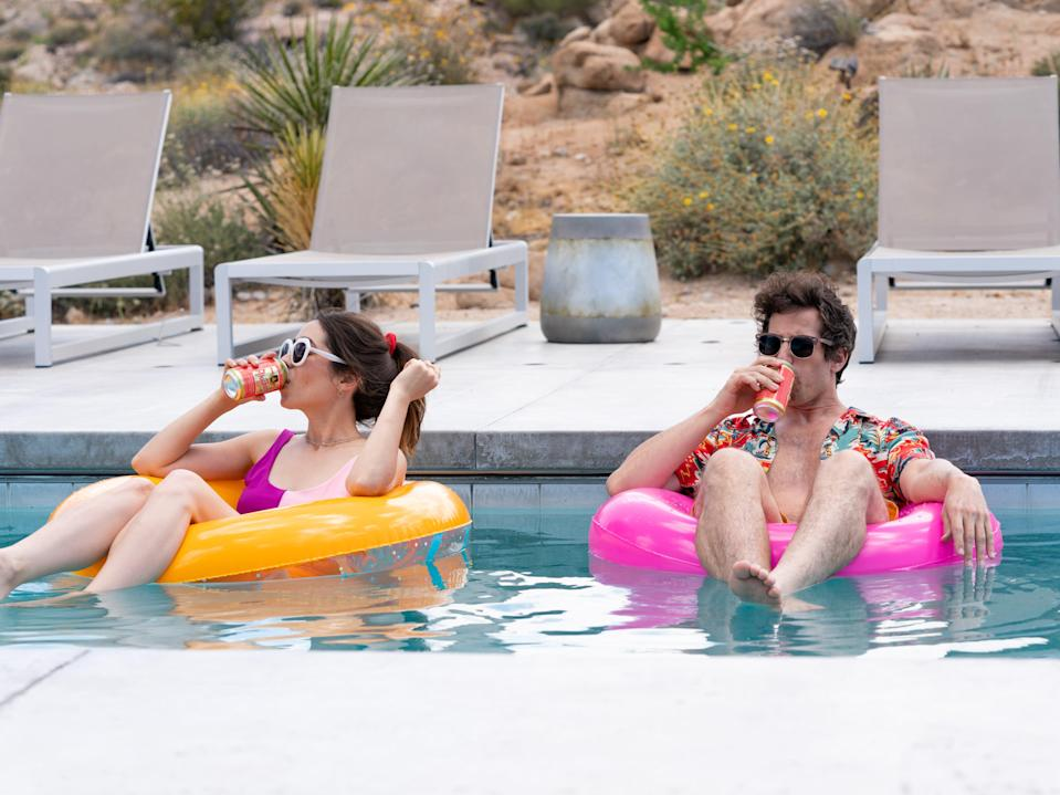 Andy Samberg and Cristin Milioti in Palm Springs (Amazon Prime Video/Jessica Perez)