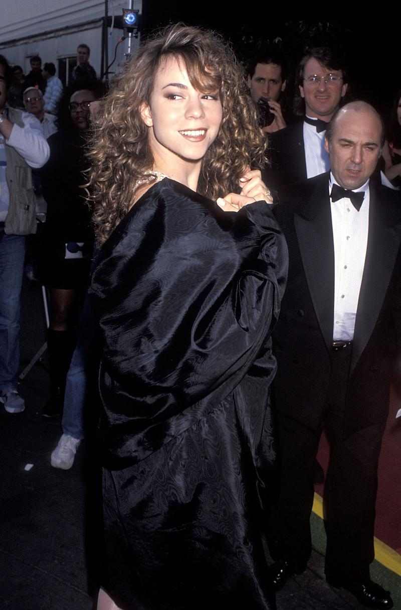 Mariah Carey attends the 19th Annual American Music Awards on January 27, 1992 at the Shrine Auditorium in Los Angeles, California. (Photo by Ron Galella, Ltd./Ron Galella Collection via Getty Images)