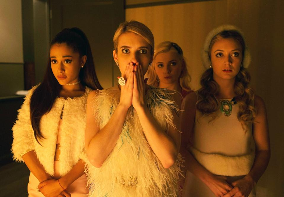 <p>Ryan Murphy's sorority slasher series (that's a mouthful) follows the young women of the Kappa Kappa Tau sorority as they and their peers get picked off one by one by a devil-masked murderer. It's more comedy than horror, so this is a good intro for people who don't totally want to pee their pants. It's only two seasons, so the time commitment is minimal.</p> <p><strong>Scare factor:</strong> 😱</p>
