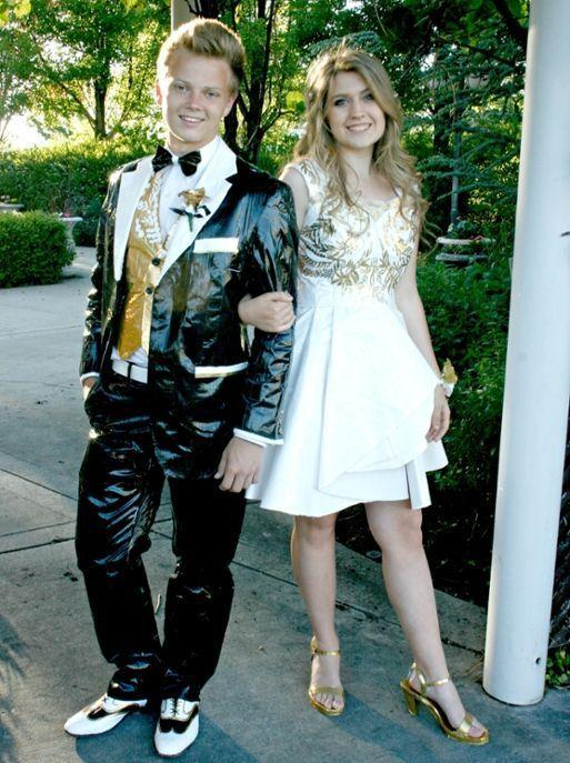 Teens Who Made Prom Outfits Out Of Duct Tape Earn College Scholarships
