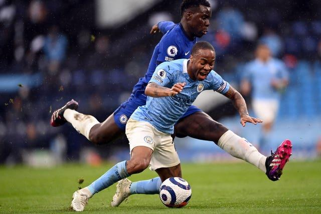 Sterling felt he was fouled by Kurt Zouma in the closing minutes