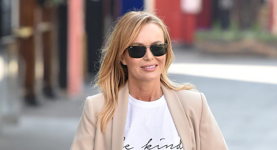 Amanda Holden made the most of the sunny weather on Good Friday(Getty Images)