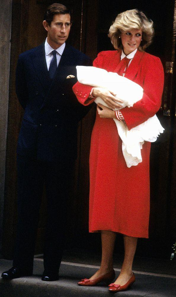 Diana and Charles with Harry