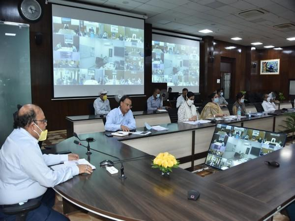 Uttarakhand Chief Secretary Om Prakash at the meeting