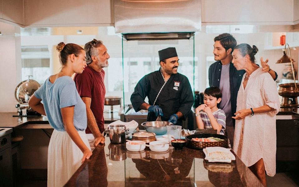 What's cooking? At Club Med Kani you'll find Indian, Chinese and Italian meals