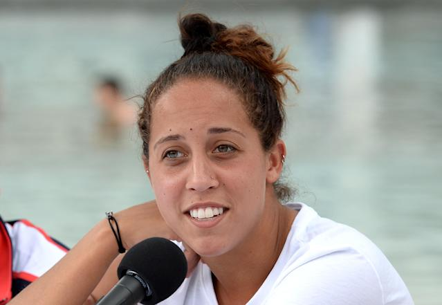BRISBANE, AUSTRALIA - APRIL 15: Madison Keys speaks during the Fed Cup press conference at Southbank on April 15, 2016 in Brisbane, Australia. (Photo by Bradley Kanaris/Getty Images)