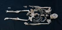 A handout photo of a skeleton of Little Foot in Sterkfontein