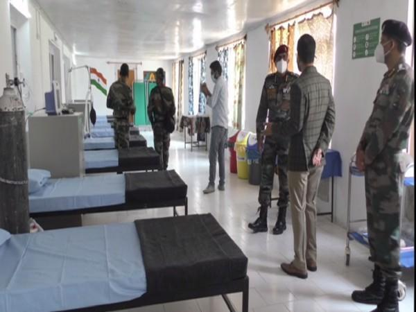 India Army sets up 20 bedded COVID hospital in Baramulla. (Photo/ ANI)