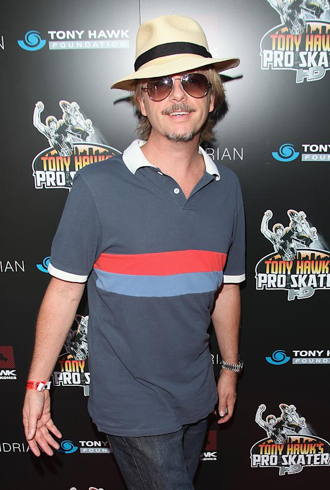 """""""Rules of Engagement"""" star David Spade made his usual appearance at the annual benefit, which raises money for the non-profit <a target=""""_blank"""" href=""""http://www.tonyhawkfoundation.org/"""">Tony Hawk Foundation</a>. The organization provides grants to build high-quality skateparks in low-income communities around the country.(10/7/2012)"""