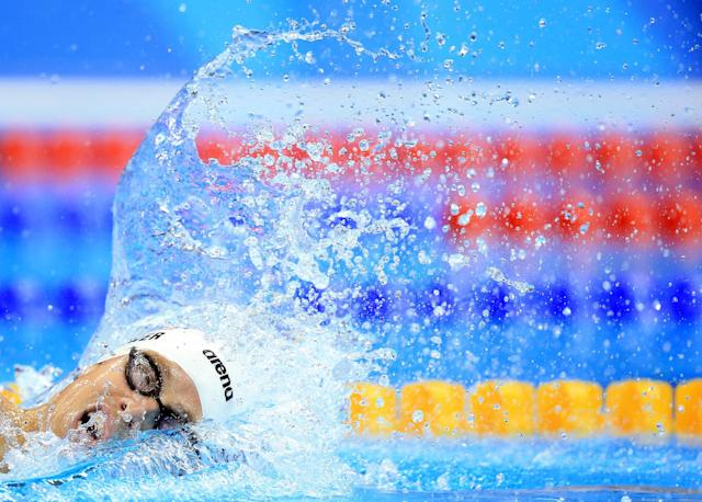 <p>Connor Jaeger of the USA competes in the Men's 400m Freestyle Heats on Day 1 of the Rio 2016 Olympic Games at the Olympic Aquatics Stadium on August 6, 2016 in Rio de Janerio, Brazil. (Photo by Vaughn Ridley/Getty Images) </p>