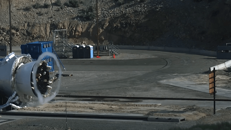 Watching a rocket plug explode into bits in slow motion is strangely gratifying