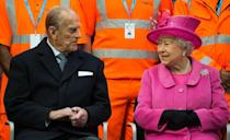 <p>Enjoying a chat with Queen Elizabeth II on an official visit to Birmingham.</p>