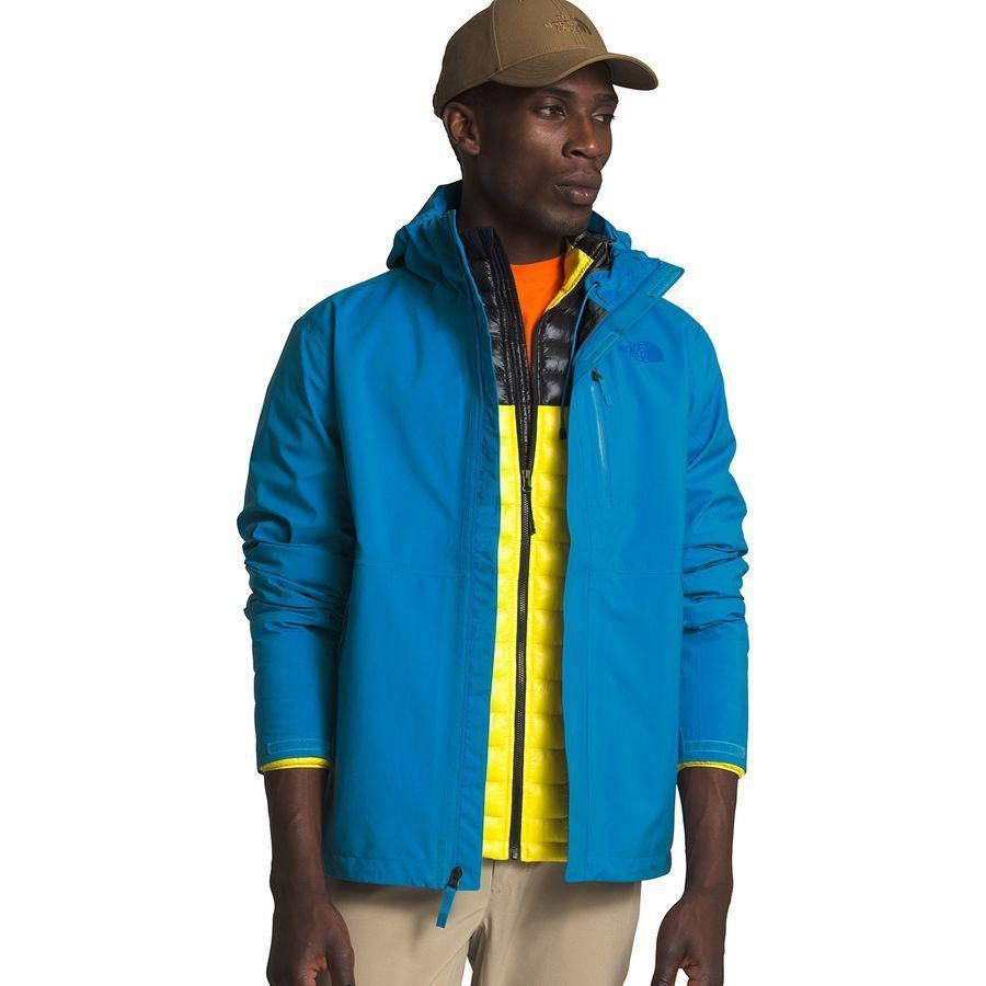 "<p><strong>The North Face</strong></p><p>backcountry.com</p><p><strong>$228.95</strong></p><p><a href=""https://go.redirectingat.com?id=74968X1596630&url=https%3A%2F%2Fwww.backcountry.com%2Fthe-north-face-dryzzle-futurelight-jacket-mens&sref=https%3A%2F%2Fwww.menshealth.com%2Fstyle%2Fg32904980%2Fbest-rain-jackets-for-men%2F"" rel=""nofollow noopener"" target=""_blank"" data-ylk=""slk:BUY IT HERE"" class=""link rapid-noclick-resp"">BUY IT HERE</a></p><p>The North Face makes some of the best waterproof material for jackets: Futurelight. Futurelight is the membrane that keeps airflow coming in without letting in the wet. </p>"