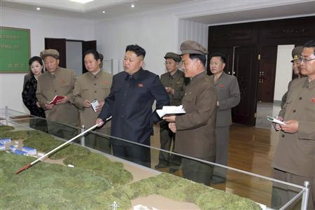 KCNA picture shows North Korean leader Kim Jong Un during a visit to the January 18 General Machinery Plant
