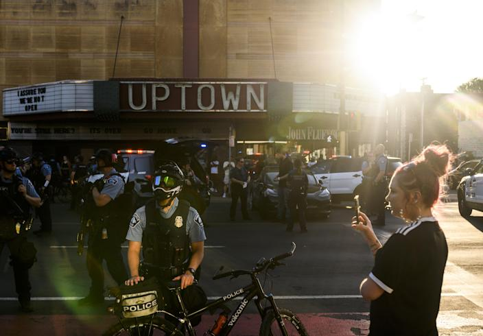 A St Paul, Minnesota man was put in jail on Monday after allegedly driving his car at a group of racial justice protestors in Minneapolis, killing one woman and injuring three others. (Getty Images)