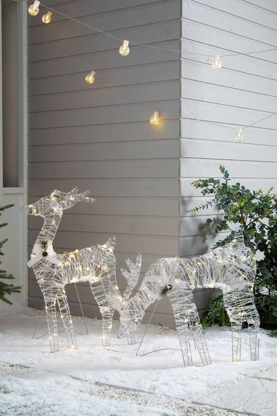 """<p>From reindeers to sparkling <a href=""""https://www.housebeautiful.com/uk/lifestyle/storage/a34833327/untangle-christmas-lights/"""" rel=""""nofollow noopener"""" target=""""_blank"""" data-ylk=""""slk:lights"""" class=""""link rapid-noclick-resp"""">lights</a>, bring the festive spirit outside with Dunelm's range of garden decorations. It's perfect for putting on an amazing display for passersby. </p>"""