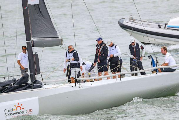 PHOTO: Prince William, Duke of Cambridge at the helm competing on behalf of Child Bereavement UK during the inaugural Kings Cup regatta hosted by the Duke and Duchess of Cambridge on August 08, 2019 in Cowes, England. (Chris Jackson/Getty Images)