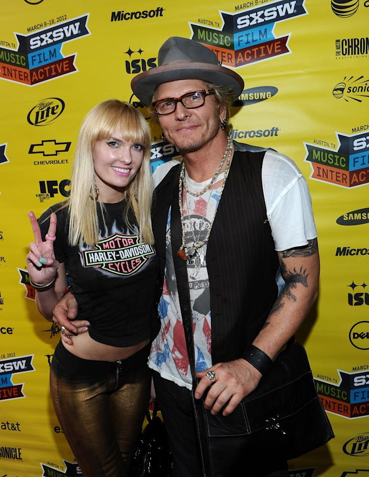 """AUSTIN, TX - MARCH 16:  Ace Harper (L) and Matt Sorum arrive to the world premiere of """"Sunset Strip"""" during the 2012 SXSW Music, FIlm + Interactive Festival at Paramount Theatre on March 16, 2012 in Austin, Texas.  (Photo by Michael Buckner/Getty Images for SXSW)"""