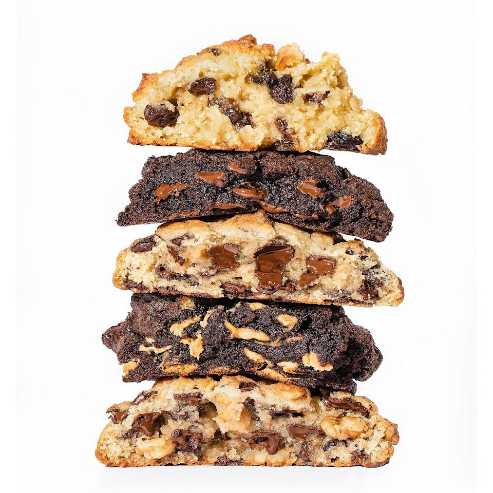 "<p>Fact: There's no cookie quite like a Levain cookie. If you're not close enough to snag one of their crave-worthy treats at their New York City or Washington, D.C. locations, pick up a box at the grocery store. Yes, that's right: <a href=""https://protect-us.mimecast.com/s/Eo7SC1wMw3FpzloMOuG7JL1?domain=levainbakery.com"" rel=""nofollow noopener"" target=""_blank"" data-ylk=""slk:Levain Bakery Frozen Cookies—"" class=""link rapid-noclick-resp"">Levain Bakery Frozen Cookies—</a> 2 ounce, fully-baked versions of their classic baseball-sized cookies in flavors like Chocolate Chip and Chocolate Chip Walnut—are available in the supermarket freezer aisle. Simply take one out the freezer, warm it up for 1 minute, and then devour immediately. <em><strong>Levain Bakery Frozen Cookies, $10 for 8; <a href=""https://products.wholefoodsmarket.com/product/levain-bakery-chocolate-chip-walnut-cookies-5435b2"" rel=""nofollow noopener"" target=""_blank"" data-ylk=""slk:at select Whole Foods stores"" class=""link rapid-noclick-resp"">at select Whole Foods stores</a></strong></em></p>"