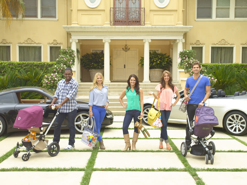 """Amanda Averill, Scott Cartmill, Kristin Lancione, Justin Sylvester and Lucy Treadway star in """"Beverly Hills Nannies."""""""