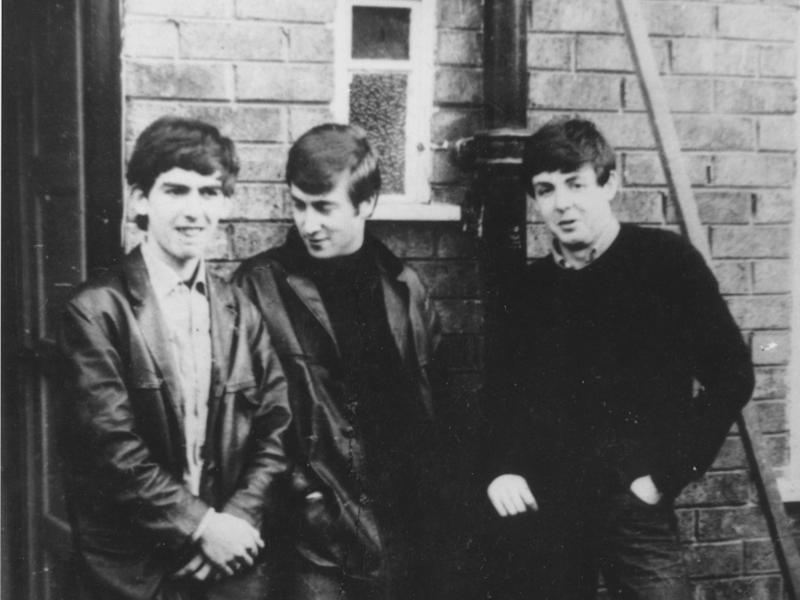 From left to right: George Harrison, John Lennon and Paul McCartney, circa 1960Getty Images