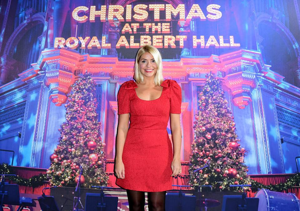 Holly Willoughby has put up her Christmas decorations, pictured here in December 2019. (Getty Images)