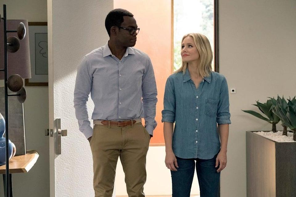 <p><strong>For Chidi:</strong> Chidi is always well-groomed and in sharp outfits. You'll need khaki pants and a button-up shirt with nice shoes and a belt to pull off this <strong>Good Place</strong> character.</p> <p><strong>For Eleanor:</strong> Eleanor can always be spotted in a casual yet somewhat put-together outfit, so strive for that. Wear jeans with a t-shirt or blazer, and that's really all you need to be as forking cool as Eleanor.</p>