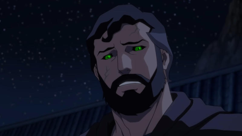 Superman is forced to deal with extreme guilt in 'Justice League Dark: Apokolips War'. (Credit: DC/Warner Bros Animation)