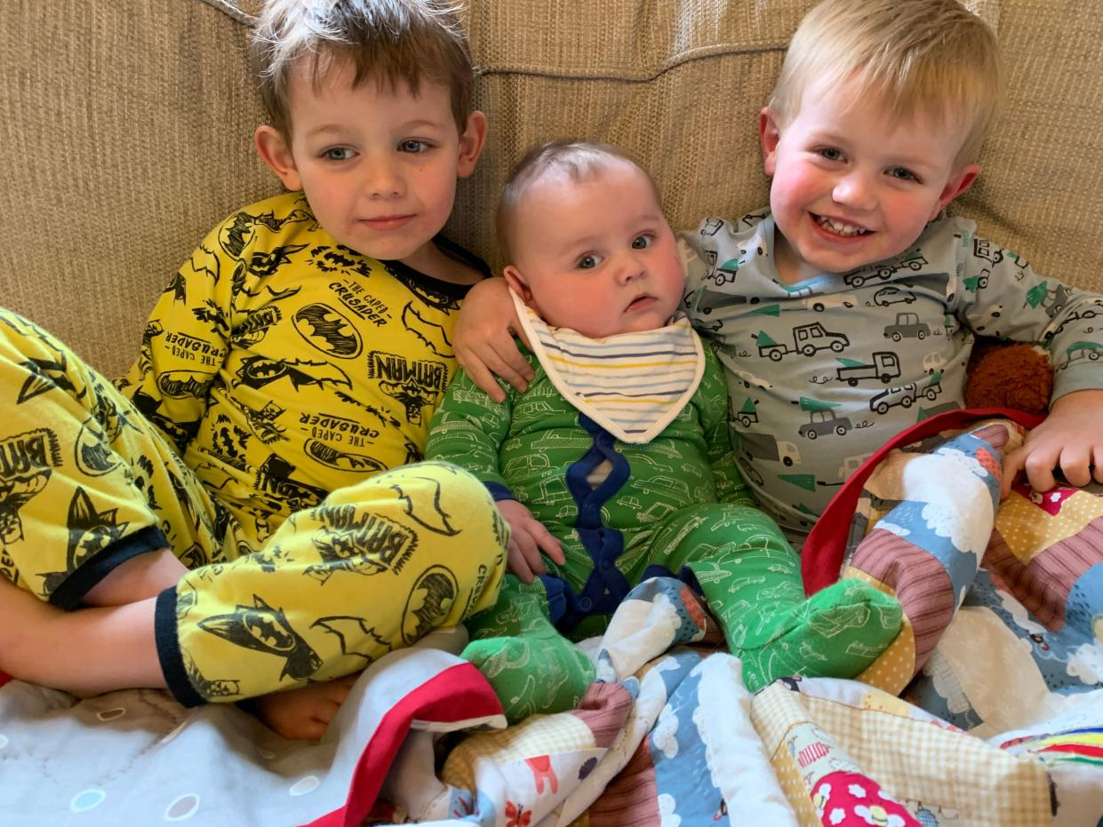Jude and his brothers (Family handout/PA)