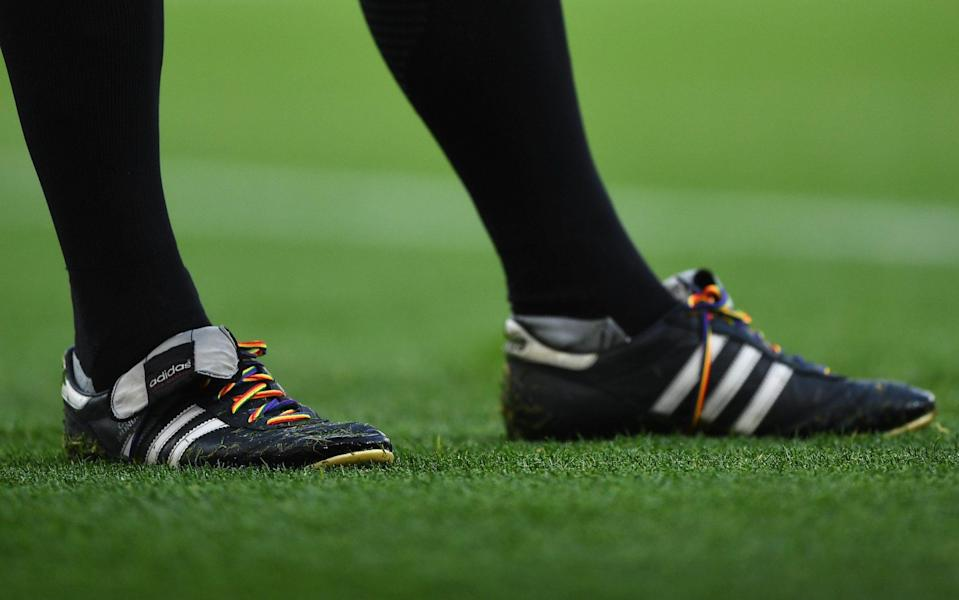 Football players will be invited over the next 10 days to wear rainbow laces to 'come out for LGBT' - Getty Images Europe