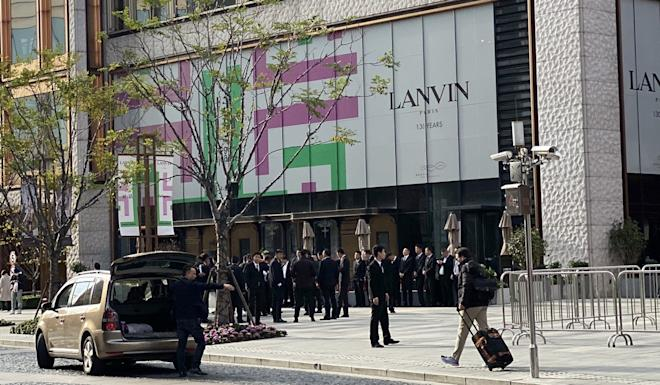 Lanvin opened a new shop at the Bund Finance Centre in Shanghai on Friday. Photo: Peggy Sito