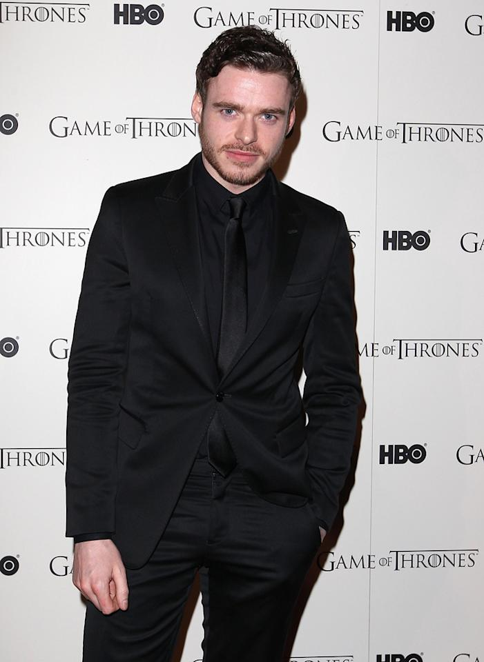 "Richard Madden attends the ""<span style=""text-decoration:underline;""></span><a target=""_blank"" href=""http://tv.yahoo.com/game-of-thrones/show/41208"">Game of Thrones</a>"" Season 1 DVD premiere at Old Vic Tunnels on February 29, 2012 in London, England."