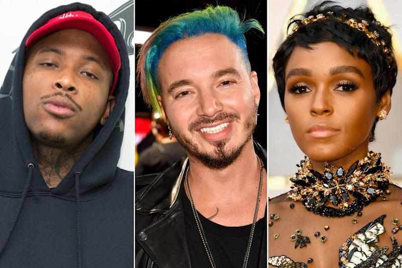 YG, J Balvin and Janelle Monae