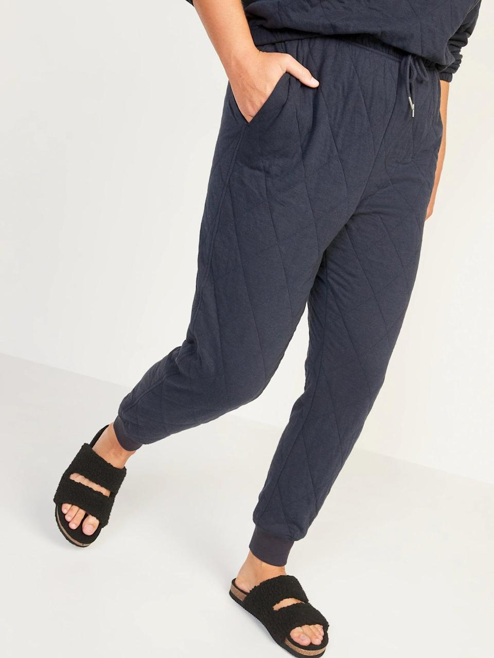 <p>These <span>Old Navy Extra High-Waisted Quilted Jogger Sweatpants</span> ($40) look so comfy, we're ready to wear the <span>matching set</span> all season long.</p>