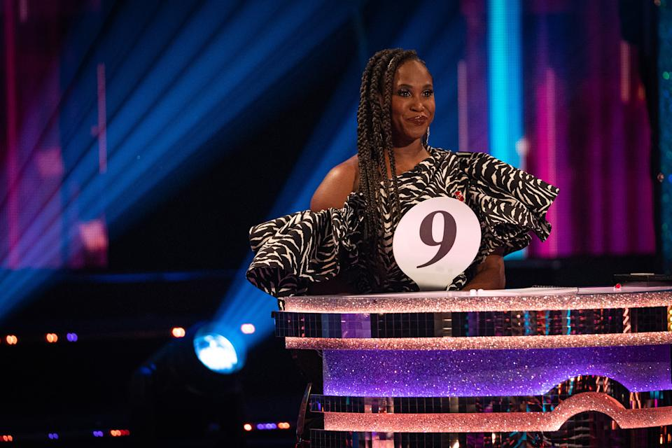 Programme Name: Strictly Come Dancing - TX: 07/11/2020 - Episode: Live show 3 - Movie week (No. 3) - Picture Shows: LIVE SHOW Motsi Mabuse - (C) BBC - Photographer: Kieron McCarron