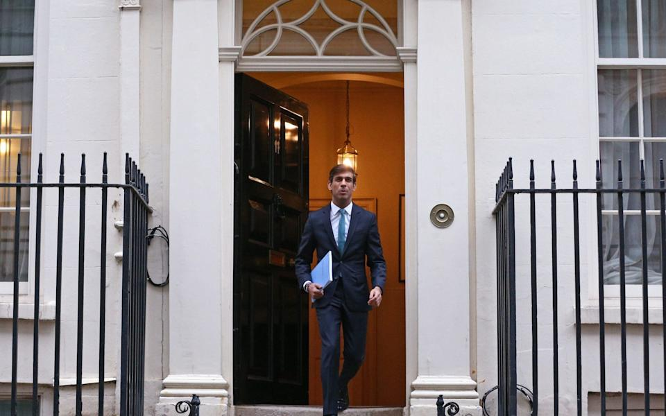 Rishi Sunak leaves 11 Downing Street, London, ahead of delivering his one-year Spending Review in the House of Common - Yui Mok/PA