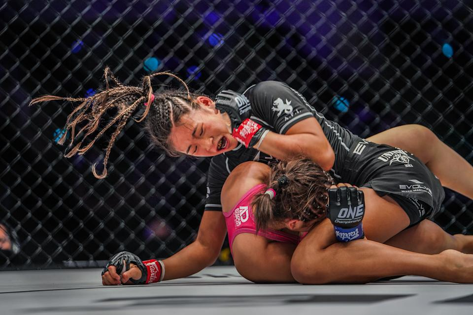 Victoria Lee (above) battles Victoria Cruz in their atomweight bout at ONE: Revolution. (PHOTO: ONE Championship)