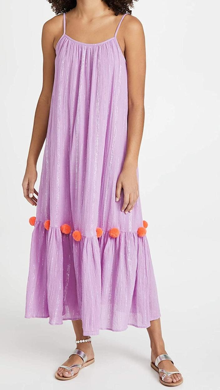 <p>Take your pool-day picture to the next level with this <span>Sundress Clea Summer Dress</span> ($150). It even has sparkly threads in it.</p>