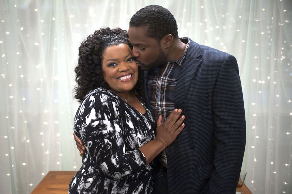 The wedding of Shirley Bennett (Yvette Nicole Brown) and Andre Bennett (Malcolm-Jamal Warner) on ?Community? (2012).
