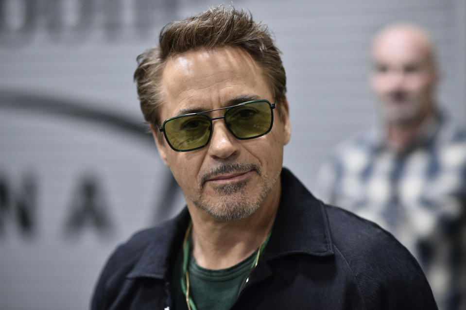 LAS VEGAS, NEVADA - MARCH 07:  Actor Robert Downey Jr. is seen arriving backstage during the UFC 248 event at T-Mobile Arena on March 07, 2020 in Las Vegas, Nevada. (Photo by Chris Unger/Zuffa LLC)
