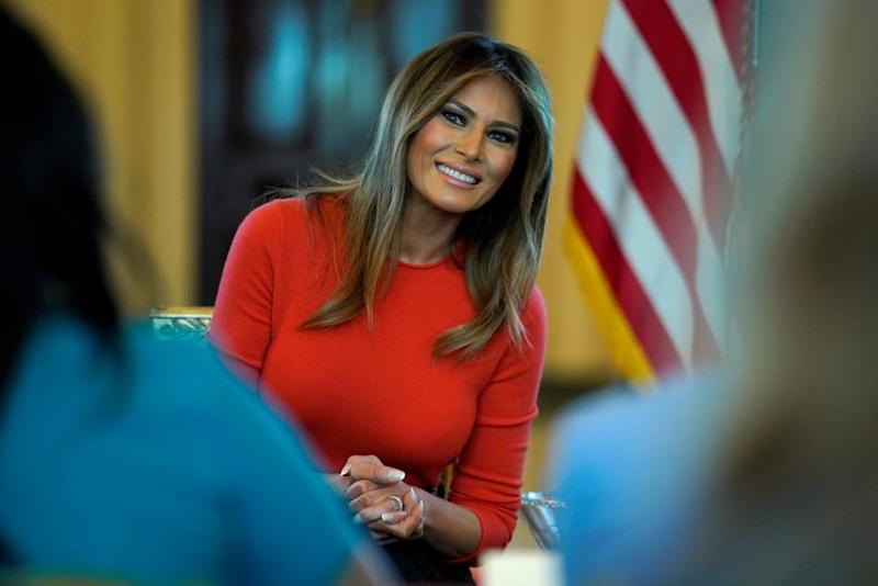 Melania Trump will not be traveling to Camp David with Trump