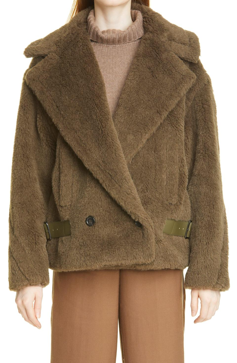 """<p><strong>Max Mara</strong></p><p>nordstrom.com</p><p><strong>$2990.00</strong></p><p><a href=""""https://go.redirectingat.com?id=74968X1596630&url=https%3A%2F%2Fwww.nordstrom.com%2Fs%2Fmax-mara-cristin-teddy-bomber-coat%2F6466388&sref=https%3A%2F%2Fwww.townandcountrymag.com%2Fstyle%2Ffashion-trends%2Fg37682006%2Fnicky-hilton-fall-favorites%2F"""" rel=""""nofollow noopener"""" target=""""_blank"""" data-ylk=""""slk:Shop Now"""" class=""""link rapid-noclick-resp"""">Shop Now</a></p><p>""""No one does a coat better than Max Mara. It's so simple, yet timeless and elegant. Not to mention it keeps you so warm. For the past few years I've literally lived in my Teddy coats. It's like you're walking around wrapped in a big blanket. So I definitely have my eye on this new bomber jacket version. I'll call it the Teddy 2.0.""""</p>"""