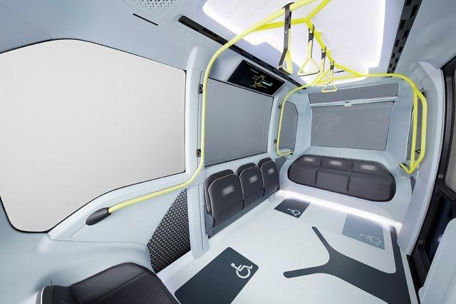 The interior of the specially-designed Toyota 'Tokyo 2020 Version' e-Palette