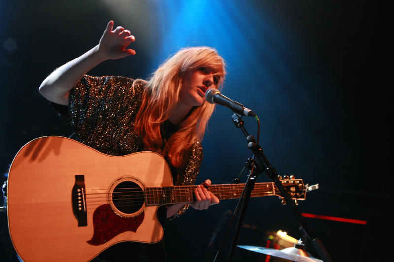 LONDON, UNITED KINGDOM - DECEMBER 11: Ellie Goulding performs at Shepherds Bush Empire on December 11, 2009 in London, England. (Photo by Chiaki Nozu/WireImage)