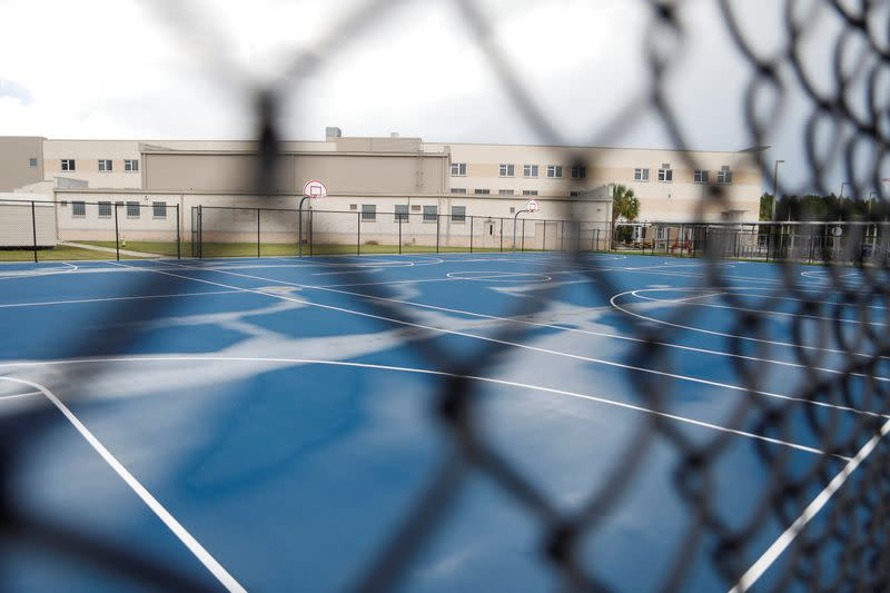 FILE PHOTO: A school yard is seen in Land O' Lakes, in Pasco County, Florida