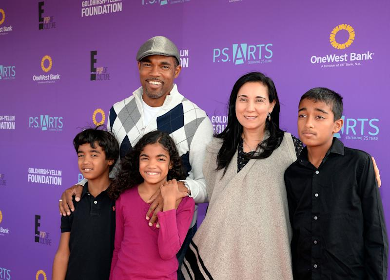 Jason George and his family