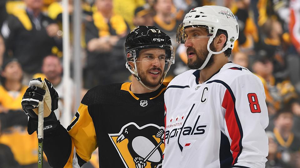 Sidney Crosby and Alexander Ovechkin want to skip the remainder of the regular season if the year eventually resumes.  (Joe Sargent/NHLI via Getty Images)