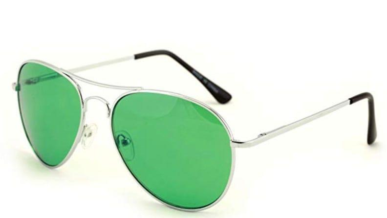 See everything in green with these shades.